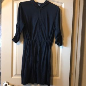 Lands End zip up dress/cover up size M